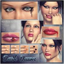 Dark Dawn Makeup 2D Graphics Atenais