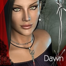 Bijoux Hantee for Dawn 3D Figure Assets 3D Models fabiana