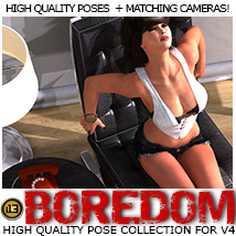 i13 BOREDOM poses for V4 3D Figure Assets ironman13