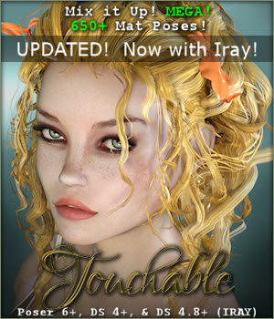 Touchable Crazy Locks 3D Figure Assets -Wolfie-