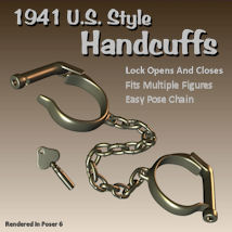 Handcuffs41 3D Figure Essentials 3D Models pappy411