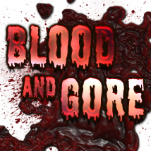 Blood and Gore effects elements 2D Graphics TheToyman
