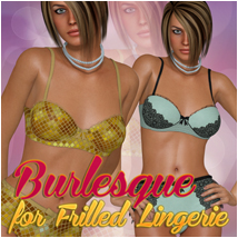 Burlesque for Frilled Lingerie Clothing Atenais