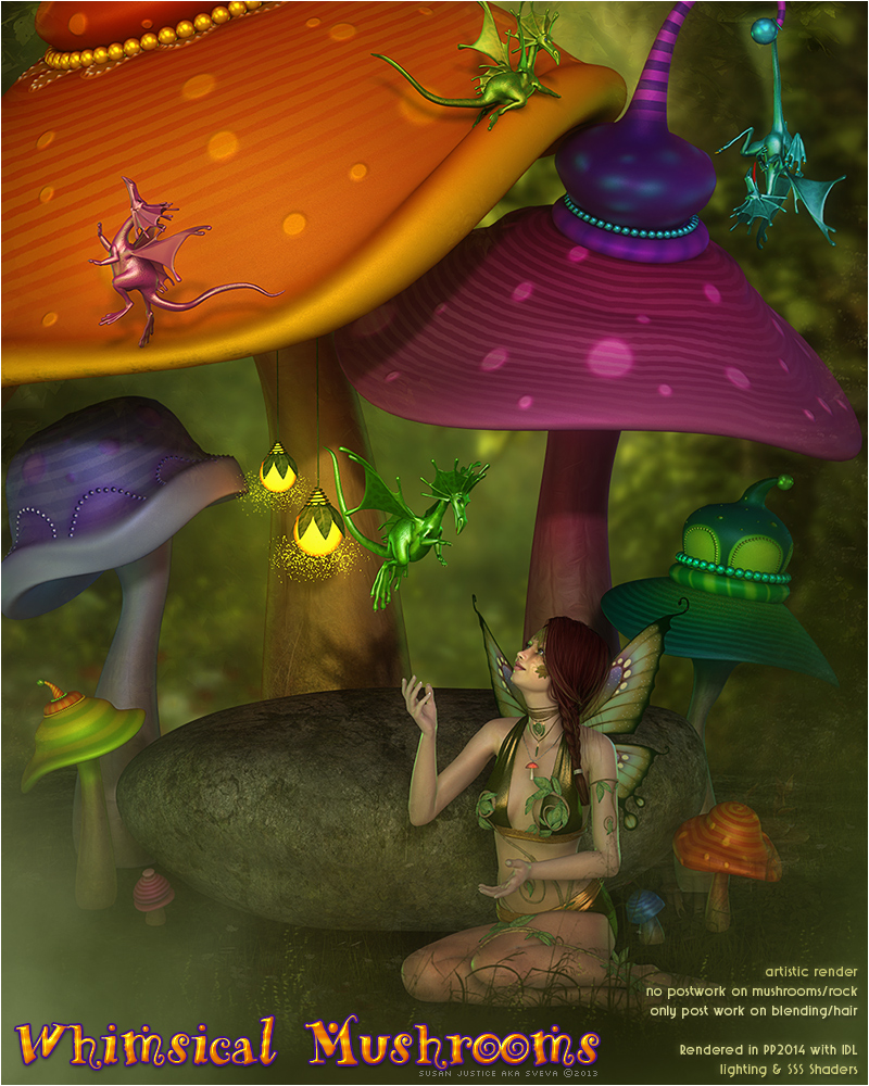 SV's Whimsical Mushrooms