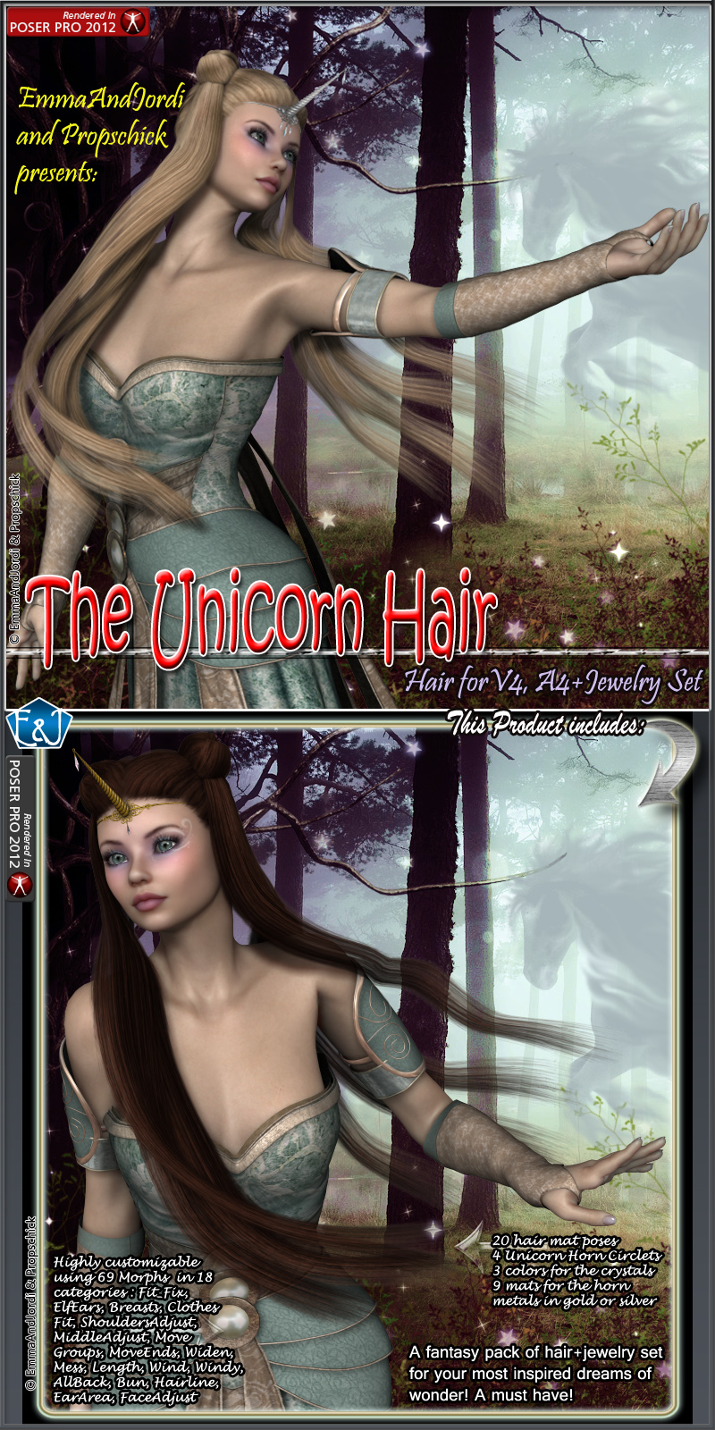 The Unicorn Hair For V4 And A4
