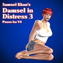 Samuel Khan's Damsel in Distress 3 Poses For V4 3D Figure Assets SamuelKhan