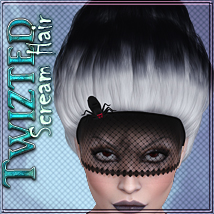 Twizted Scream Hair 3D Figure Assets TwiztedMetal