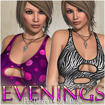 Evenings for DesireV4 3D Figure Essentials 3D Models OziChick