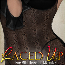 Laced Up for Mila Dress 3D Figure Essentials 3D Models OziChick