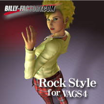 V4 Rock Style 3D Figure Assets billy-t