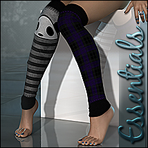 Essentials for Monster Socks 3D Figure Assets Sveva