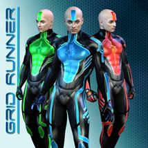Grid Runner 3D Figure Essentials shaft73
