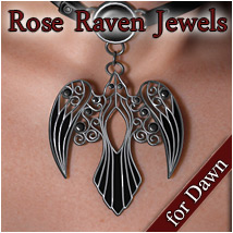 Rose Raven Jewels Dawn 3D Figure Essentials Rhiannon