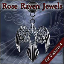 Rose Raven Jewels V4 3D Figure Essentials Rhiannon