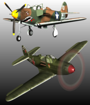 BELL P39 AIRACOBRA BUNDLE 3D Models 3D Figure Essentials Nationale7