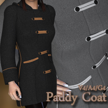 Paddy Coat V4-A4-G4 3D Figure Essentials nikisatez