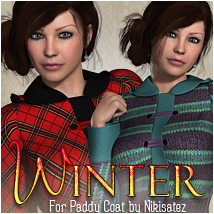 Winter for Paddy Coat 3D Models 3D Figure Essentials OziChick