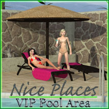 Nice Places - VIP Pool Area by 3-D-C 3D Models 3D Figure Assets 3-d-c