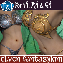 Elven Fantasykini For V4 A4 G4 Themed Software Clothing EmmaAndJordi