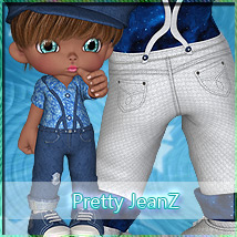 Pretty JeanZ Themed Clothing Stand Alone Figures Marianne_Designs