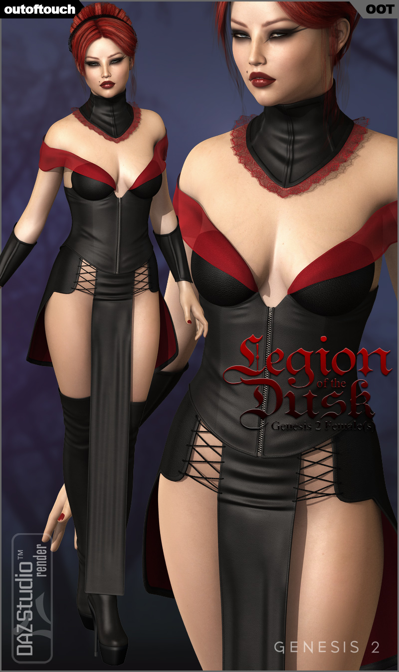 LEGION OF THE DUSK for Genesis 2 Female(s) - Victoria 6 / Gia 6 / Girl 6