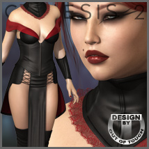 LEGION OF THE DUSK for Genesis 2 Female(s) - Victoria 6 / Gia 6 / Girl 6 Clothing Themed outoftouch