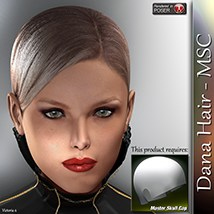 Dana Hair - MSC 3D Figure Assets 3Dream