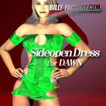 Dawn Sideopen Dress 3D Figure Assets billy-t