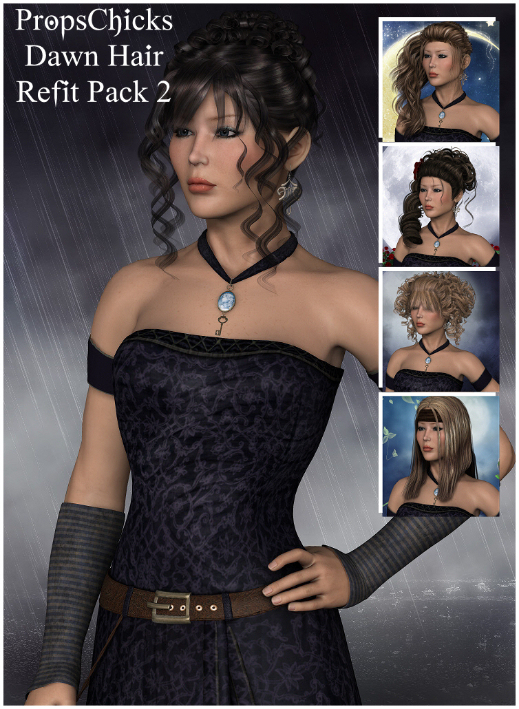 Pc's Dawn Hair Re-Fit Pack 2