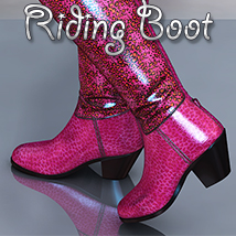 NYC Collection: Riding Boot 3D Figure Assets 3DSublimeProductions