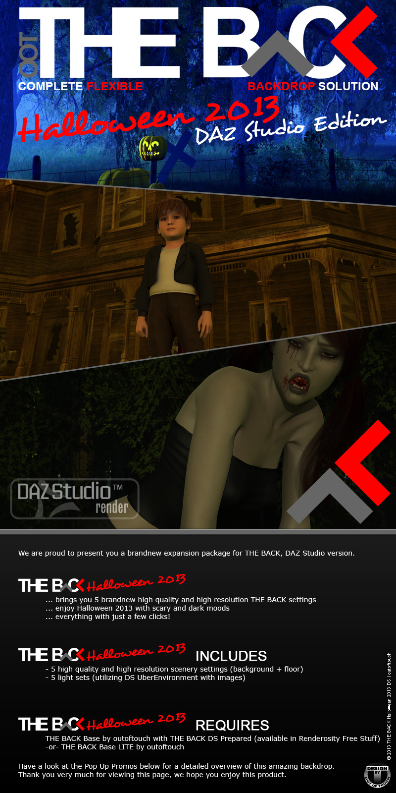 THE BACK Halloween 2013 - DAZ STUDIO