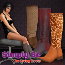 Simply Be for Riding Boots 3D Figure Assets Atenais
