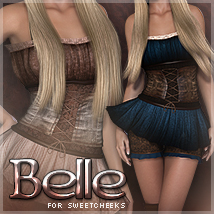 Belle for SweetCheeks 3D Figure Assets Sveva