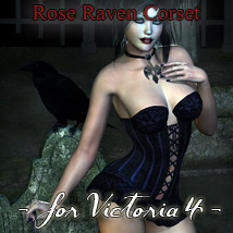 Rose Raven Corset 3D Figure Essentials Rhiannon