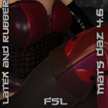 FSL Latex and Rubber DAZ 4.6 2D Graphics 3D Figure Assets fuseling