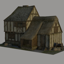 Medieval_Cottage 3D Figure Essentials 3D Models Dante78