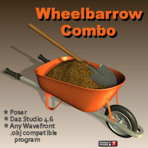Wheelbarrow Combo 3D Models pappy411