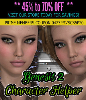 Genesis 2 Character Helper 3D Figure Essentials 3DSublimeProductions