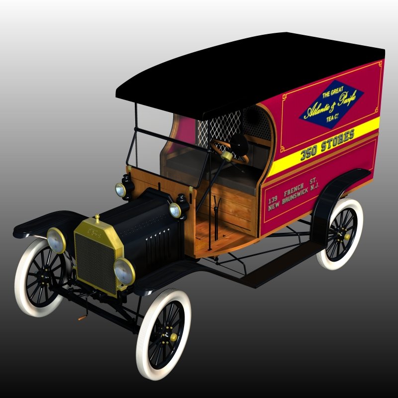 FORD T DELIVERY ( for Poser ) by 3DClassics