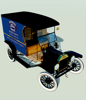 FORD T DELIVERY ( for Poser ) 3D Models 3D Figure Essentials Nationale7