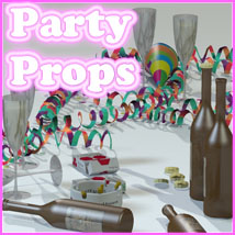 Party Props by 3-D-C 3D Figure Essentials 3D Models 3-d-c