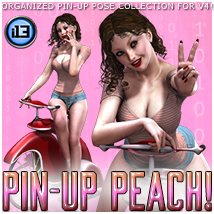 i13 Pin-Up PEACH! 3D Figure Essentials 3D Models ironman13
