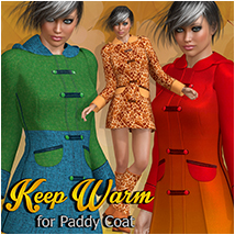 Keep Warm for Paddy Coat 3D Figure Assets Atenais