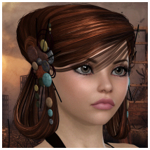 The Artist's Hair - V4 and Dawn 3D Figure Essentials Propschick