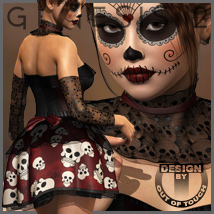 DIA DE LOS MUERTOS for Genesis 2 Female(s) - V6/G6/Gia 3D Models 3D Figure Essentials outoftouch