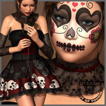 DIA DE LOS MUERTOS for V4/A4/G4 3D Models 3D Figure Essentials outoftouch