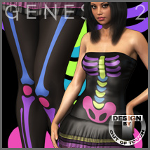 SKELETONS for Genesis 2 Female(s) - V6/G6/Gia 3D Figure Assets 3D Models outoftouch