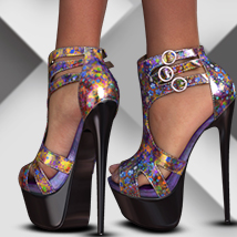 A_3DS Glamour Heels 3D Figure Essentials 3DSublimeProductions