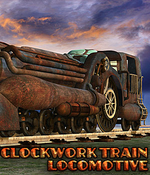 Clockwork Train Locomotive 3D Models Cybertenko