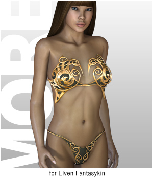 MORE Textures & Styles for Elven Fantasykini 3D Models 3D Figure Essentials motif